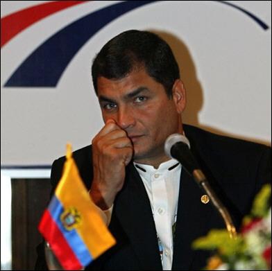 Rafael Correa--yummy president