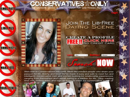 conservative only dating Republicanpeoplemeetcom is the premier online service for republican dating conservative singles are online now in our active republican dating site.